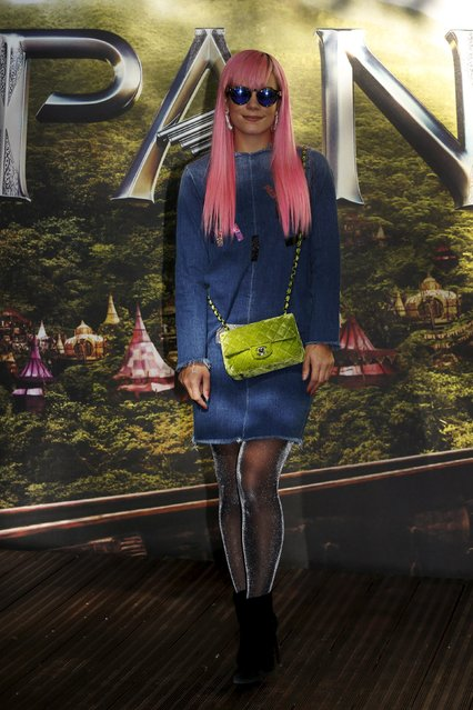 "Singer and songwriter Lily Allen arrives for the world premiere of ""Pan"" at Leicester Square in London, Britain September 20, 2015. (Photo by Luke MacGregor/Reuters)"