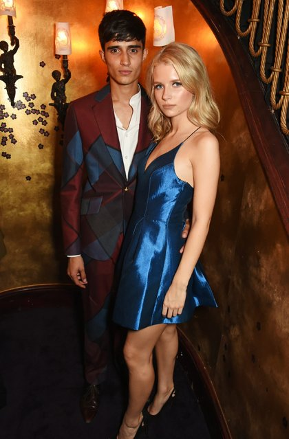 Xavier Hickman (L) and Lottie Moss attend the LOVE Magazine and Marc Jacobs LFW Party to celebrate LOVE 16.5 collector's issue of LOVE and Berlin 1989 at Loulou's on September 19, 2016 in London, England. (Photo by David M. Benett/Dave Benett/Getty Images for LOVE/CONDE NAST)