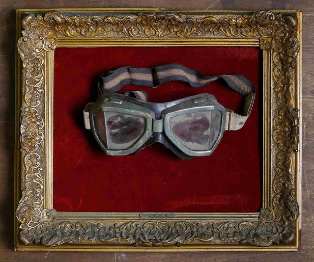 Goggles are displayed in an old frame in the Museum of Domenico Agostinelli in Dragona, near Rome October 30, 2014. (Photo by Tony Gentile/Reuters)