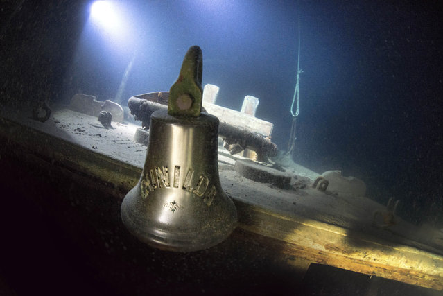 The ship looks almost exactly the same as it did the day it sunk beneath the waves in 1911. (Photo by Becky Kagan Schott/Caters News Agency)