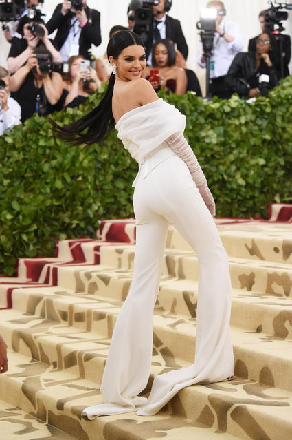 Kendall Jenner attends the Heavenly Bodies: Fashion & The Catholic Imagination Costume Institute Gala at The Metropolitan Museum of Art on May 7, 2018 in New York City. (Photo by Jamie McCarthy/Getty Images)
