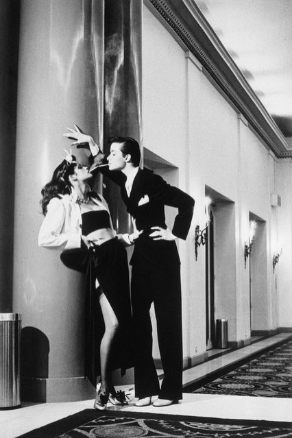 Woman into Man. (Photo by Helmut Newton)