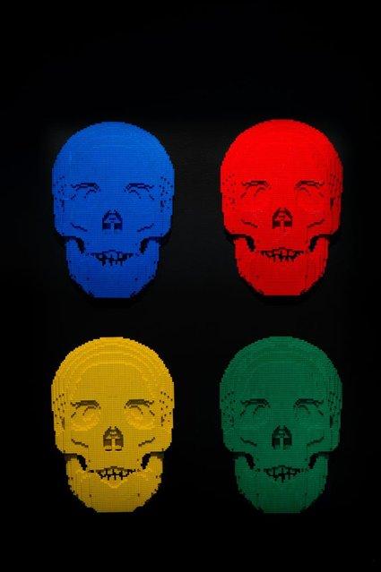 """""""Skulls"""". (Photo by Nathan Sawaya/The Art of the Brick)"""