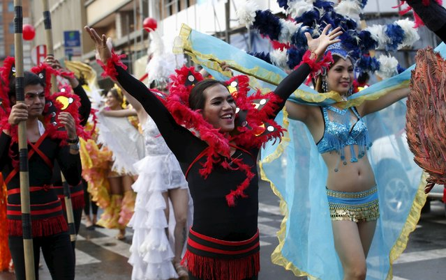 Filipino transgender women wear colourful costumes during a World Aids Day celebration in Manila, Philippines, December 1, 2015. (Photo by Erik De Castro/Reuters)