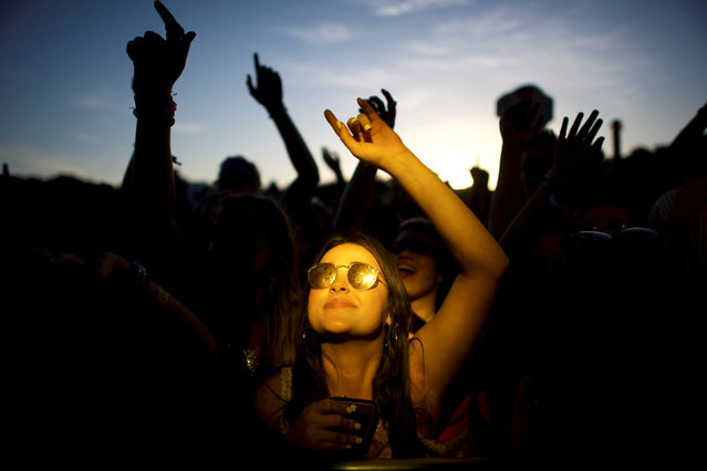 Revelers dance during the Firefly Music Festival in Dover, Delaware June 14, 2018. (Photo by Mark Makela/Reuters)