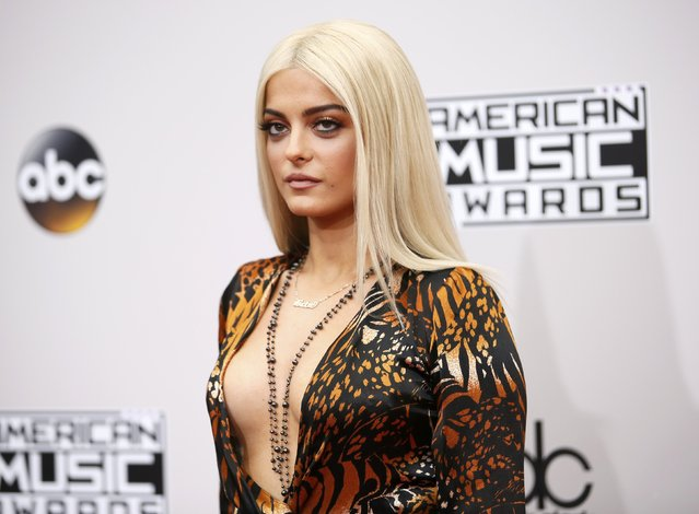 Recording artist Bebe Rexha arrives at the 2016 American Music Awards in Los Angeles, California, U.S., November 20, 2016. (Photo by Danny Moloshok/Reuters)