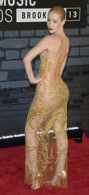 Australian singer and model Iggy Azalea attends the 2013 MTV Video Music Awards at the Barclays Center on August 25, 2013 in the Brooklyn borough of New York City. (Photo by Jamie McCarthy/Getty Images for MTV)