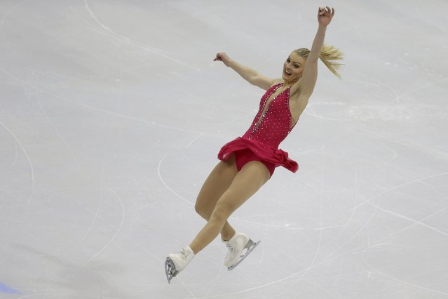 Joshi Helgesson of Sweden performs during the ladies short program at the ISU European Figure Skating Championship in Bratislava, Slovakia, January 27, 2016. (Photo by David W. Cerny/Reuters)