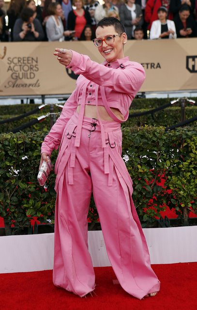 Actress Lori Petty arrives at the 22nd Screen Actors Guild Awards in Los Angeles, California January 30, 2016. (Photo by Mike Blake/Reuters)