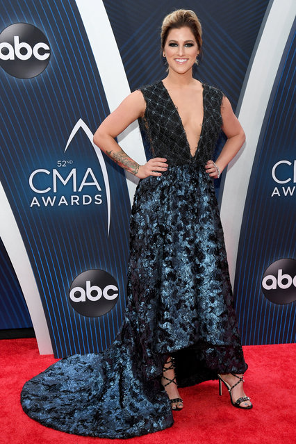 Singer-songwriter Cassadee Pope attends the 52nd annual CMA Awards at the Bridgestone Arena on November 14, 2018 in Nashville, Tennessee. (Photo by Jason Kempin/Getty Images)