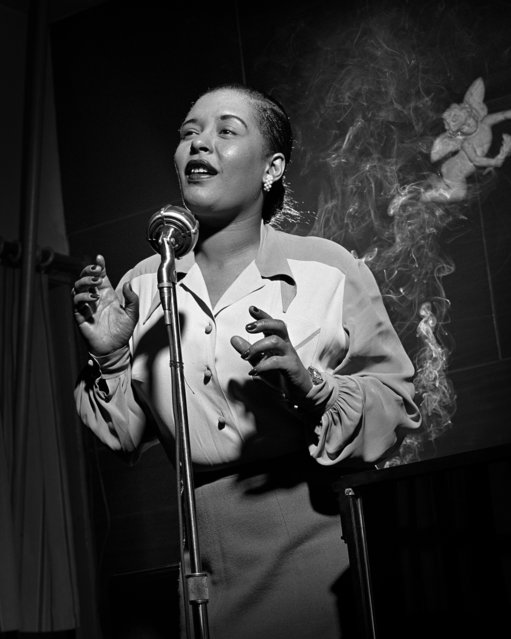 Billie Holiday, NYC, New York, 1949. (Photo by Herman Leonard)