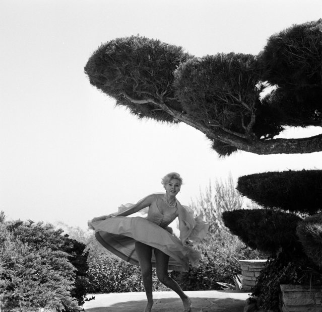 Actress Zsa Zsa Gabor poses in her garden in Los Angeles,CA., circa 1950. (Photo by Earl Leaf/Michael Ochs Archives/Getty Images)