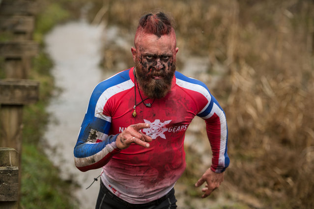 A competitor takes part in the Tough Guy endurance event near Wolverhampton, central England, on January 27, 2019. (Photo by Oli Scarff/AFP Photo)
