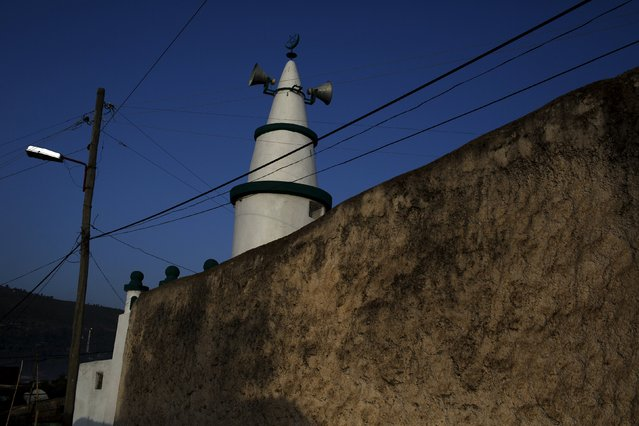 The minaret of a mosque is seen in the old walled town of Harar in eastern Ethiopia, May 20, 2015. (Photo by Siegfried Modola/Reuters)