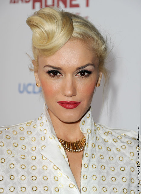 Singer Gwen Stefani arrives at the premiere of FilmDistrict's In the Land of Blood and Honey held at ArcLight Cinemas