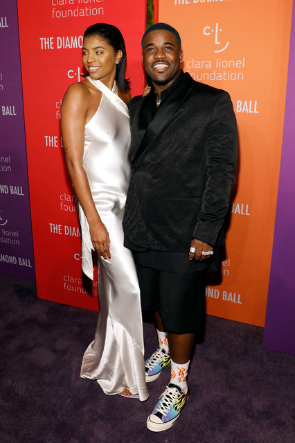 Renell Medrano and A$AP Ferg attend the 5th Annual Diamond Ball benefiting the Clara Lionel Foundation at Cipriani Wall Street on September 12, 2019 in New York City. (Photo by Taylor Hill/WireImage)