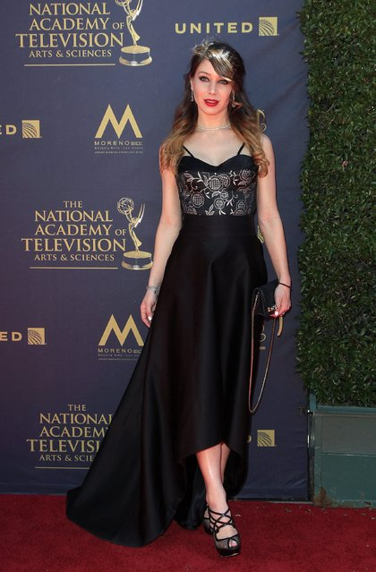 US actress Celeste Fianna arrives for the 44th Daytime Emmy Awards at the Pasadena Civic Center in Pasadena, California, USA, 30 April 2017. (Photo by Nina Prommer/EPA)
