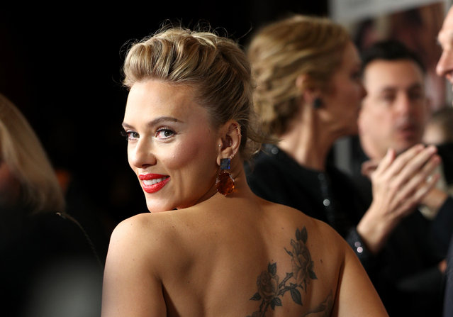 """Scarlett Johansson attends the Premiere of Netflix's """"Marriage Story"""" at DGA Theater on November 5, 2019 in Los Angeles, California. (Photo by John Salangsang/Rex Features/Shutterstock)"""
