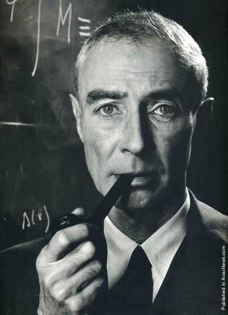 American theoretical physicist Robert Oppenheimer, 1958. Photo by Philippe Halsman