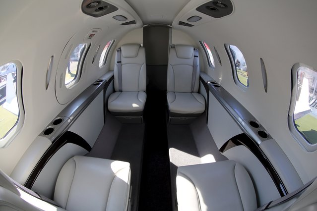 The cabin of Honda jet is seen at Congonhas airport in Sao Paulo, Brazil, August 10, 2015. (Photo by Paulo Whitaker/Reuters)