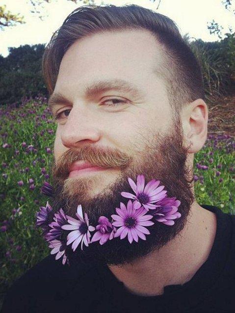 Flower beard. (Photo by tiannosaurus/Tumblr)