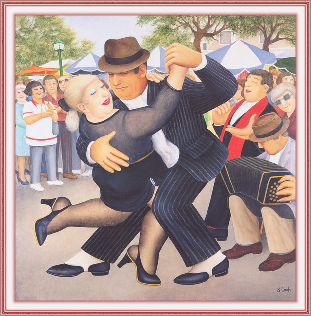 Tango in San Telmo. Artwork by Beryl Cook