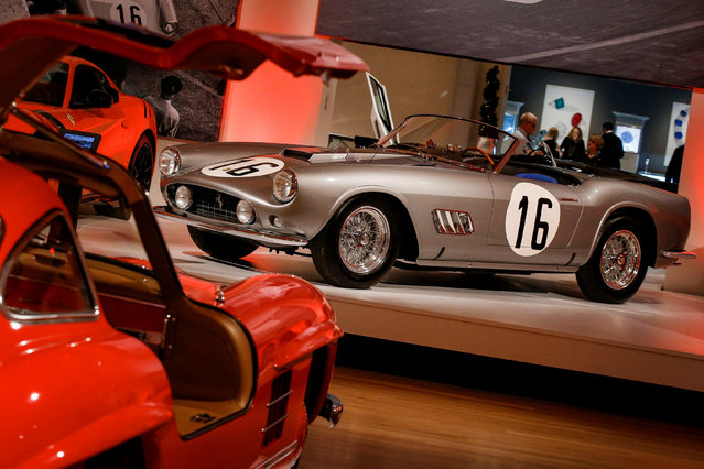"""A 1959 Ferrari 250 GT LWB California Spider Competizione by Scaglietti is displayed during a media preview for the """"RM Sotheby's Icons"""" sale at Sotheby's in New York, U.S., November 30, 2017. (Photo by Brendan McDermid/Reuters)"""