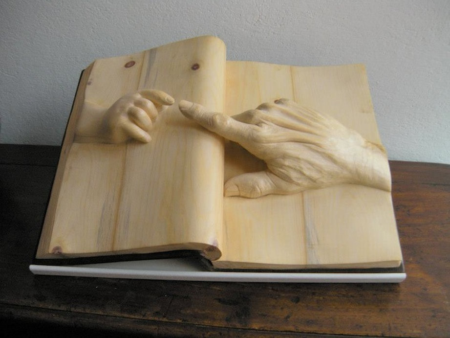 Wooden Book by Nino Orlandi