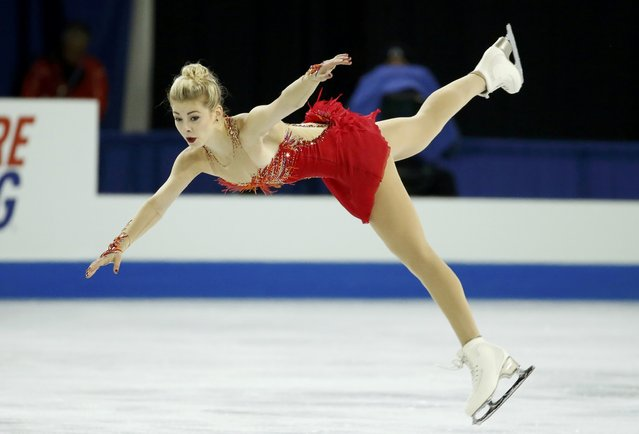 Gracie Gold of the U.S. performs during the ladies' free skating program at the Skate America figure skating competition in Milwaukee, Wisconsin October 24, 2015. (Photo by Lucy Nicholson/Reuters)