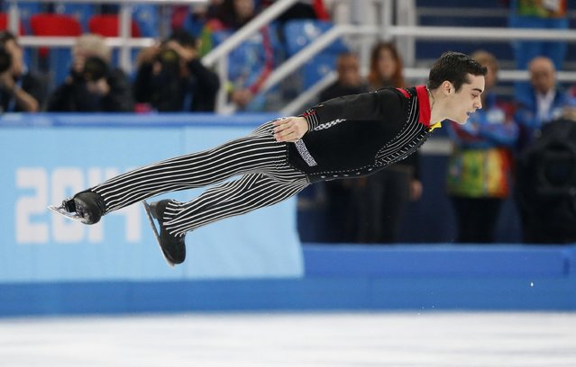 Spain's Javier Fernandez competes during the figure skating men's short program at the Sochi 2014 Winter Olympics, in this February 13, 2014 file photo. (Photo by Lucy Nicholson/Reuters)