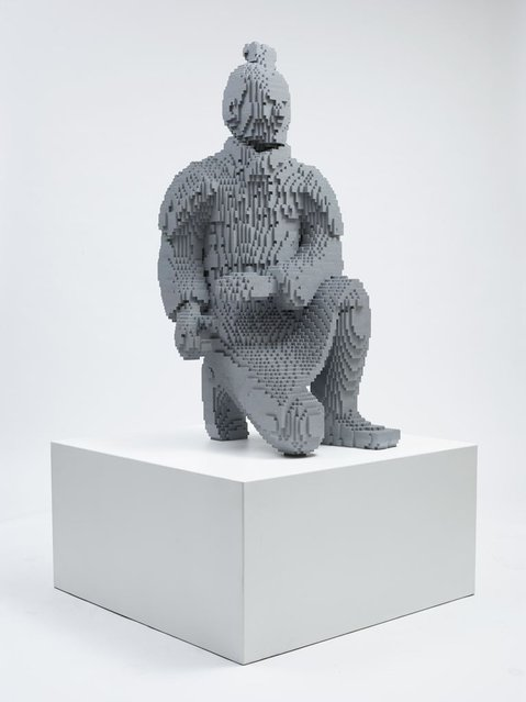 """Samarai warrrior"". (Photo by Nathan Sawaya/The Art of the Brick)"