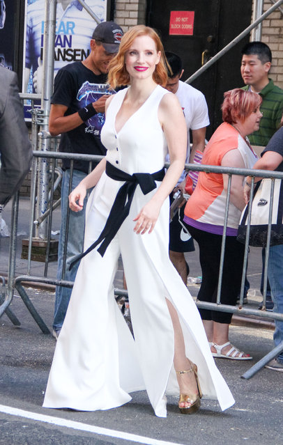 Jessica Chastain is seen on June 25, 2018 in New York City. (Photo by MediaPunch/Bauer-Griffin/GC Images)