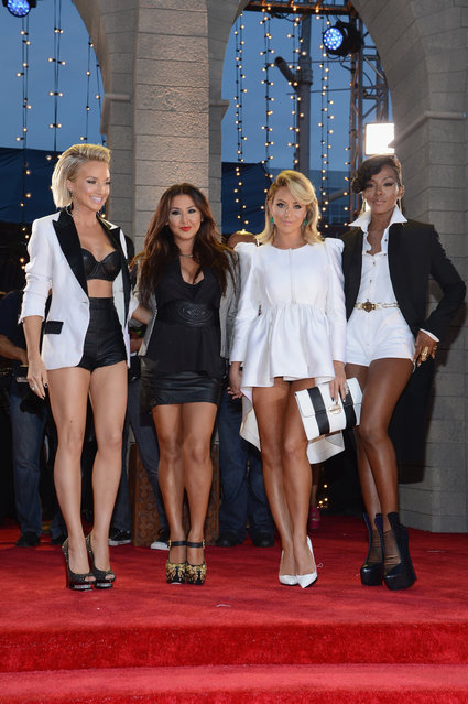Shannon Bex, Andrea Fimbres, Aubrey O'Day and Dawn Richards of Danity Kane attend the 2013 MTV Video Music Awards at the Barclays Center on August 25, 2013 in the Brooklyn borough of New York City.  (Photo by Larry Busacca/Getty Images for MTV)