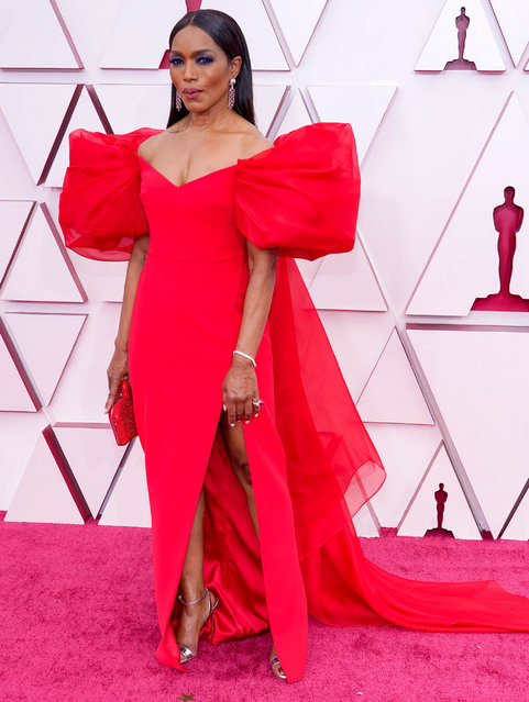 Angela Bassett attends the 93rd Annual Academy Awards at Union Station on April 25, 2021 in Los Angeles, California. (Photo by Chris Pizzello-Pool/Getty Images)