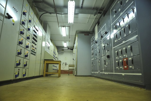The main generator room is seen in a former Regional Government HQ Nuclear bunker built by the British government during the Cold War which  has come up for sale in Ballymena, Northern Ireland on February 4, 2016. (Photo by Clodagh Kilcoyne/Reuters)