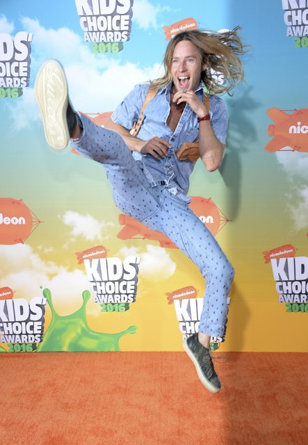 Actor Greg Cipes arrives at Nickelodeon's Kids' Choice Awards in Inglewood, California March 12, 2016. (Photo by Phil McCarten/Reuters)