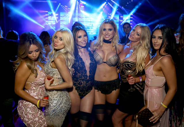 Models attend the Maxim Super Bowl Party on February 5, 2017 in Houston, Texas. (Photo by Tasos Katopodis/Getty Images for Maxim)