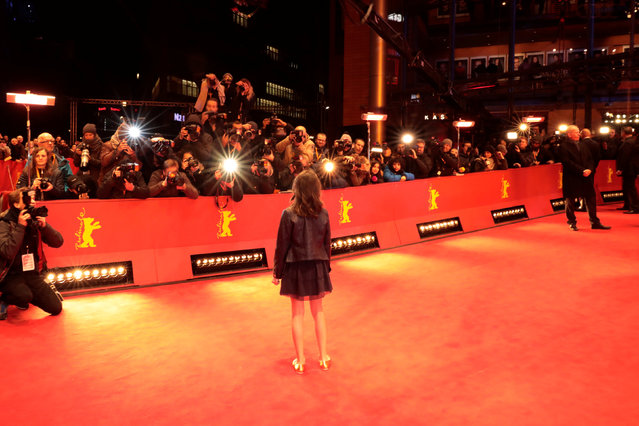 "Actress Dafne Keen arrives for the screening of the movie ""Logan"" at the 67th Berlinale International Film Festival in Berlin, February 17, 2017. (Photo by Axel Schmidt/Reuters)"