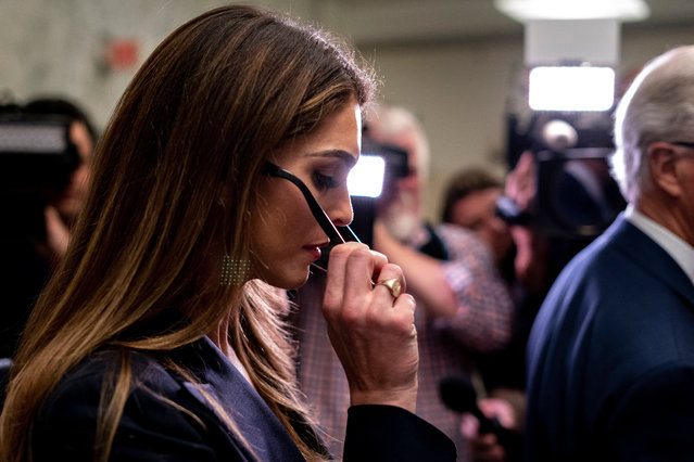 Hope Hicks, former White House Communications Director leaves a closed door meeting with lawmakers on the House Judiciary Committee on Capitol Hill in Washington DC, USA on June 19, 2019. (Photo by Rex Features/Shutterstock)