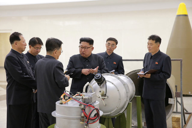 North Korean leader Kim Jong Un provides guidance on a nuclear weapons program in this undated photo released by North Korea's Korean Central News Agency (KCNA) in Pyongyang September 3, 2017. (Photo by Reuters/KCNA)