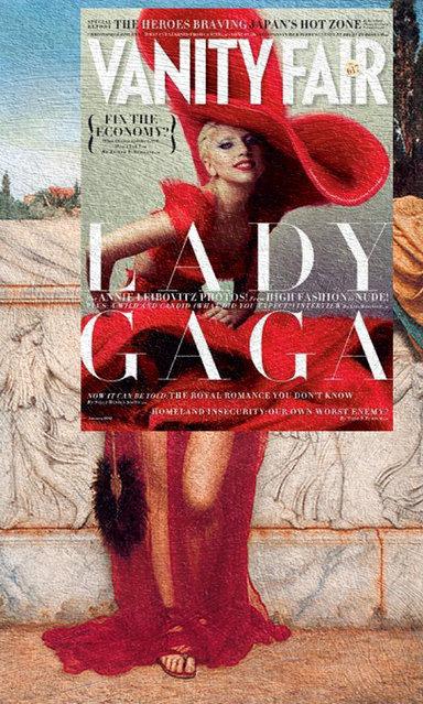 Quirky Magazine covers: Gaga and Athena. (Photo by Eisen Bernard Bernardo/Caters News)