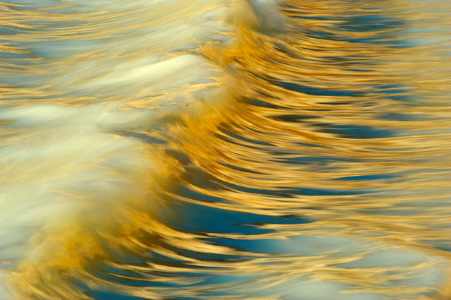 Second place, Special Category: Water. Sandra Bartocha – Milk and Honey. Reflection of the chalk coast. (Photo by Sandra Bartocha/2020 GDT Nature Photographer of the Year)