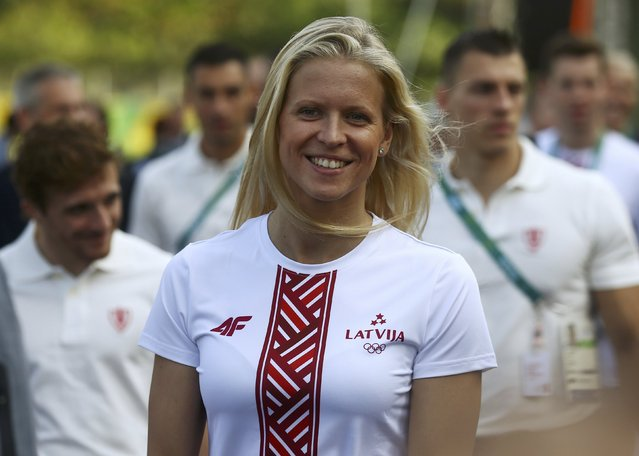 Alona Ribakova (LAT) of Latvia is pictured during the team welcoming ceremonies in Rio de Janeiro, Brazil on August 4, 2016. (Photo by Vasily Fedosenko/Reuters)