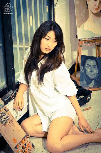 s*xy Asian Beauty. Hana in the Art Studio