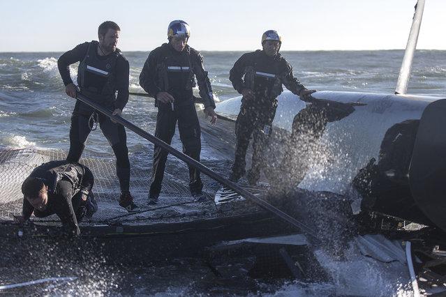 Oracle Team USA Capsizes Its Biggest, Baddest Boat
