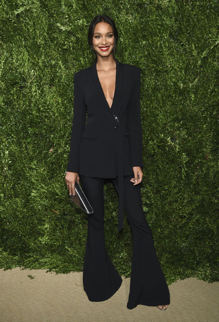 Lais Ribeiro attends the 14th Annual CFDA Vogue Fashion Fund Gala at Weylin on Monday, November 6, 2017, in New York. (Photo by Evan Agostini/Invision/AP Photo)