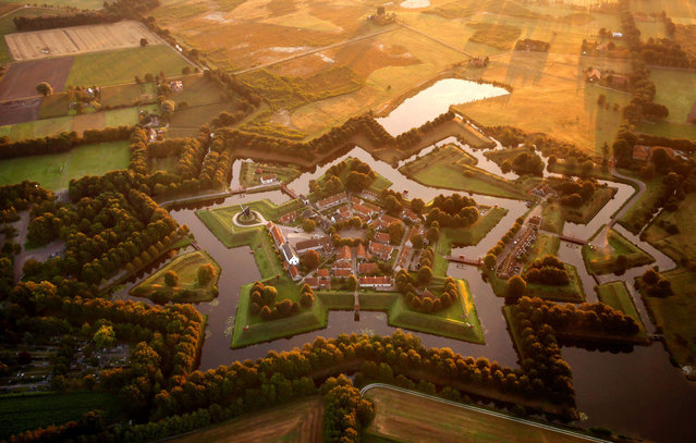 The star fort at Bourtange, Netherlands. (Photo by Amos Chapple/Rex Features)