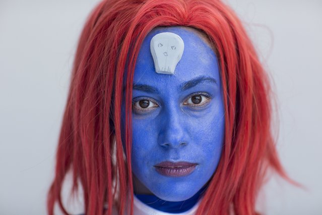 Samantha Alicea attends New York Comic Con dressed as Mystique from Marvel's X-Men in Manhattan, New York, October 8, 2015. (Photo by Andrew Kelly/Reuters)