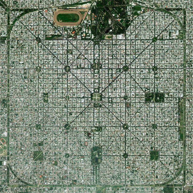 """The planned city of La Plata – the capital city of the Province of Buenos Aires, Argentina – is characterised by its strict, square grid pattern. At the 1889 World's Fair in Paris, the new city was awarded two gold medals in the categories """"City of the Future"""" and """"Better Performance Built"""". (Photo by Benjamin Grant/Penguin Random House)"""