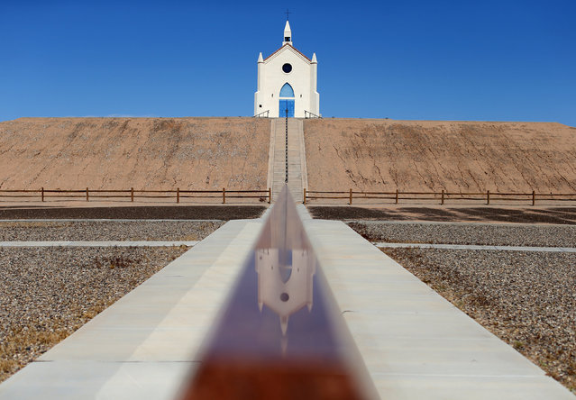 A church at the Museum of History in Granite is seen in Felicity, California, United States, October 8, 2016. (Photo by Mike Blake/Reuters)